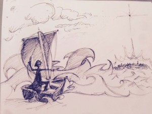 Early pencil sketch for home page design